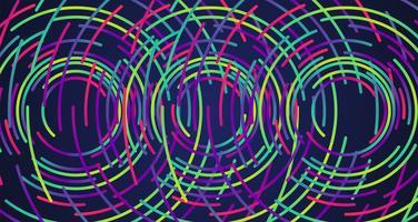 Priorità bassa variopinta dei cerchi al neon, vettore