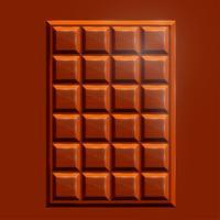 Barra di cioccolato realistico 3D, vettore