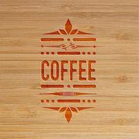 Opera d'arte scolpita caffè, vettore