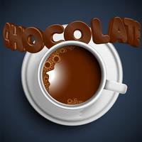 Una tazza di cioccolata calda realistica, vettore