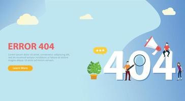 errore 404 pagina non trovata modello di sito Web con persone vettore