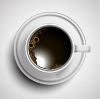 Una tazza di caffè realistico, vettore