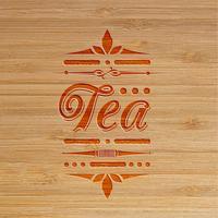 opera d'arte intagliata tè, vettore