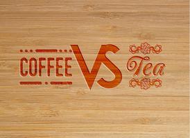 Opera d'arte scolpita caffè e tè, vettore
