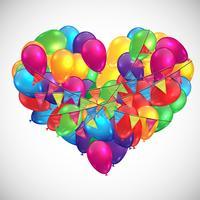 Illustrazione per il compleanno o qualsiasi celebrazione, vettoriale