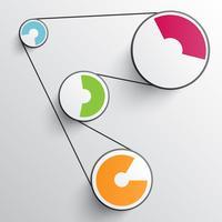 Infographics astratto di affari per la pubblicità vettore