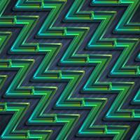 Fondo astratto variopinto di zigzag verde, illustrazione di vettore