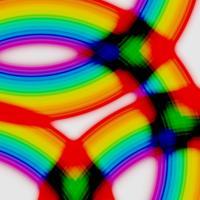 Cerchi arcobaleno, vettoriale
