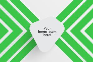Pulisca il modello per la pubblicità con le frecce verdi, illustrazione di vettore