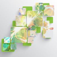 Modello colorato per la pubblicità, illustrazione vettoriale