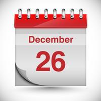 Calendario per Chritmas, vettoriale