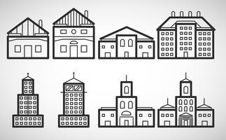 Icona di alloggio, illustrazione vettoriale