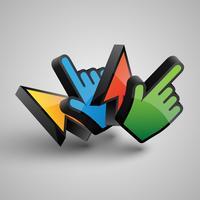 Vector i cursori colorati