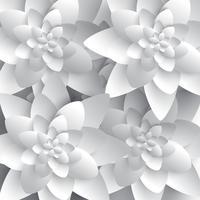 Astratto fiore di carta 3D vettore