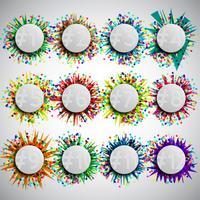 Modello di celebrazione colorato, vettoriale