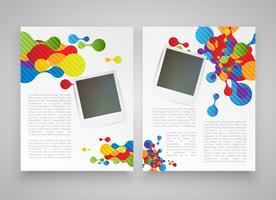 Modelli realistici colorati per pubblicità o presentazione, illustrazione vettoriale