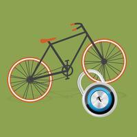 Illustrazione piana della bicicletta variopinta, vettore
