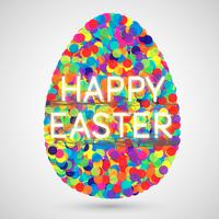 Illustrazione colorata per Pasqua, vettoriale