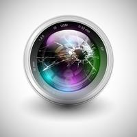 Icona della macchina fotografica rotta, vettoriale