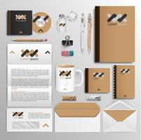 Strumenti di Office e progettazione di identità, vettore