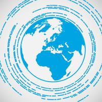 Simbolo di vettore di terra blu