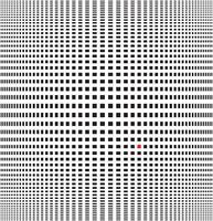 Illustrazione vettoriale di illusione ottica sfondo bianco e nero