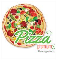 Pizza sfondo design retrò vettore