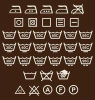 Segni di lavaggio vettore