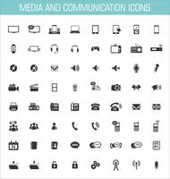 Icone multimediali e di comunicazione vettore