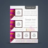 Modello astratto di brochure aziendale