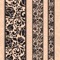 Motivi decorativi senza giunte dell'annata sotto forma di strisce. vettore