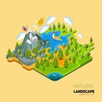 Ambiente naturale isometrico vettore