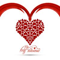 Fondo moderno di San Valentino felice vettore