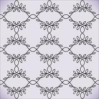Fondo di stile di linea floreale di vettore, modello di progettazione monogramma senza soluzione di continuità.