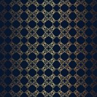 Vector la linea floreale fondo di stile nero, modello senza cuciture di progettazione del monogramma