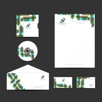Set design moderno business identity vettore