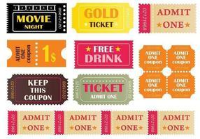 Pacchetto di biglietti vettoriali