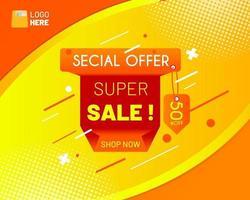 banner di vendita offerta speciale vettore