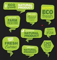 Eco Vintage Labels Bio template set Ecologia Design retrò