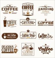 distintivi per il caffè vettore