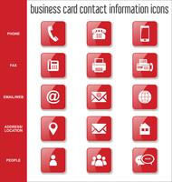 Raccolta delle icone di informazioni di contatto del biglietto da visita vettore