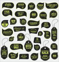 Collezione di adesivi e contrassegni moderni distintivi