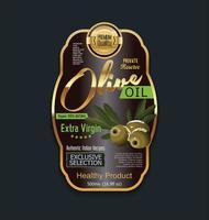 Retro raccolta d'annata dorata del fondo dell'olio d'oliva