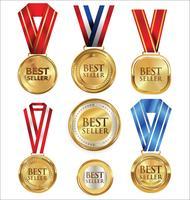 Illustrazione vettoriale della medaglia d'oro