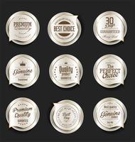 Distintivi ed etichette premium di lusso vettore