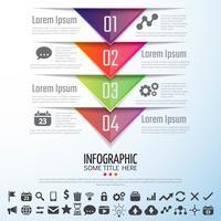 Modello di progettazione infografica freccia vettore