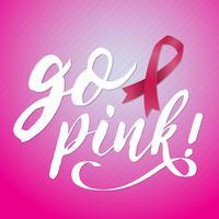 Priorità bassa di vettore di consapevolezza del cancro al seno