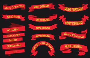 Buon Natale con nastri vettore