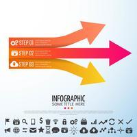 Modello di progettazione infografica freccia