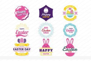 etichetta vettoriale vintage retrò di Pasqua